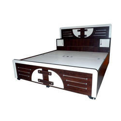 Brown Cherry Wood Designer Double Bed, Warranty: 1 Year
