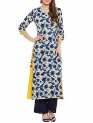 Double Layer Printed Cotton Kurtis