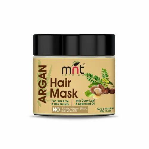 MNT Argan Hair Mask with Curry Leaf & Spikenard Oil for Hair Grow & Frizz free Hair, 100g