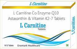L Carnitine, Co Enzyme Q10, Astaxanthin and Vitamin K-27 Tablets