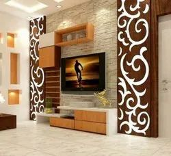 Applewood Wooden TV Wall Unit, For Home, Hotel