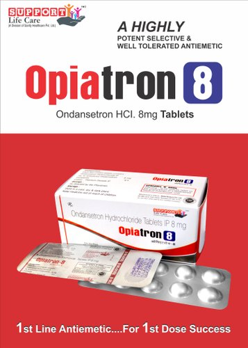 OPIATRON-8 Allopathic Ondansetron 8mg, Prescription, Packaging Type: 10x10 Alu-alu