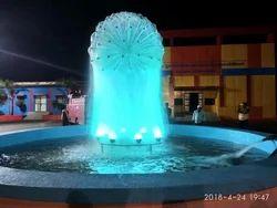 White Ball Fountain/ Dandelion Fountain