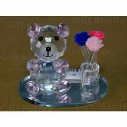 Teddy Bear Crystal Gifts, Packaging Type: Box, for Decoration,Gifting