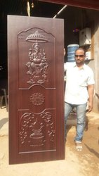 Laminated Brown 3D Door
