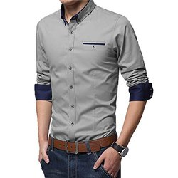 Cotton Casual Wear Fond Of Mens Readymade Shirts, Size: M-XXL, Machine and Hand Wash