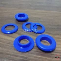 No. 28 Plastic Eyelets & Washers Blue