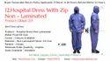 Hospital Dress With Zip Non Laminated - PPE Kit - Kinkob