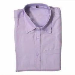 Plain Smart-X Men's Light Purple Formal Shirt, Machine wash
