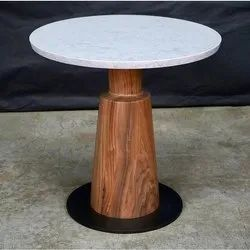 Wooden Modern Marble Top Dining Table