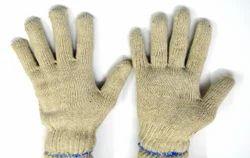 男女皆宜的白色纯棉针织手手套50克