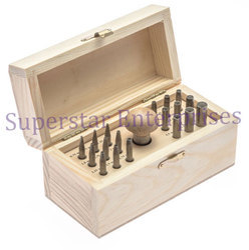 Bezel Setting Punch Set in Wood Box Set of 30