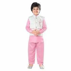 Pink Kids Suit With Jaquar Jacket