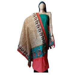 Party Wear Cotton Women Handloom Dress Material