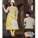 Cut Shoulder Cotton Kurti