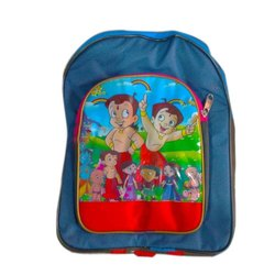 Polyester Printed Kids School Backpack, Capacity: 10 kg