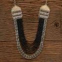 Indo Western Two Tone Long Necklace 100582