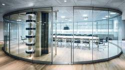 Curved Glass Office