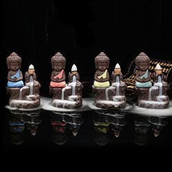 Decora Craft Smoke Buddha Fountain Statue