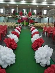 Rose Red Wedding Inflatable Flower Entry, Couple Entry, Birthday Entry