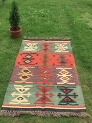 Wool Kilim Rug, Traditional Rug, Wool Jute Rug, Kilim Rug, Unique Rug