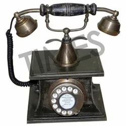 Brown Antique Wooden Rotary Telephone