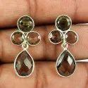 925 Sterling Silver Blue Earrings