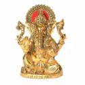 Golden (gold Plated) White Metal Golden Xl Ganesh Ji