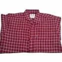 Mens Party Wear Check Cotton Shirt