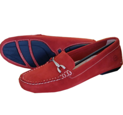 Ladies Sorrento Red Loafers