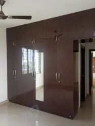 Brown Wooden wardrobe decorators
