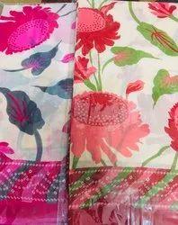 Hand Block Prints Casual Wear Pure Cotton Sarees, 5.5 m (Separate Blouse Piece)