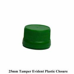 Green 25mm Tamper Evident Plastic Closure