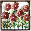 Flower With Leaves Wall Decor Showpiece