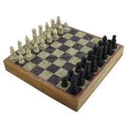 Black Soapstone Chess Board