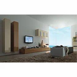 Hekami Plywood LCD TV Wall Cabinet, Warranty: 1 Year