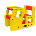 Red, Yellow Boy And Girl School Kart Kids Furniture