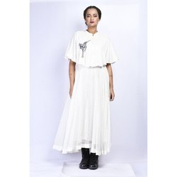 White Ladies Designer Long Dress