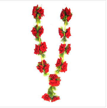 rose flower garland wedding ideas