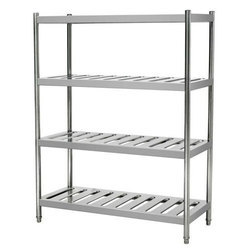 Vertical Stainless Steel Kitchen Racks, For Hotel/Restaurant, Size: 36