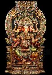 Multicolor Wooden Ganesh, 55kg Approx, Cartoon