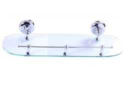 600 Mm Transparent Glass Shelf With Frame, Packaging Type: Box