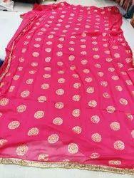 Multi Color Goldy Saree Chiffon