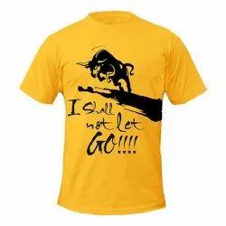 Yellow Casual Wear Printed T-Shirt