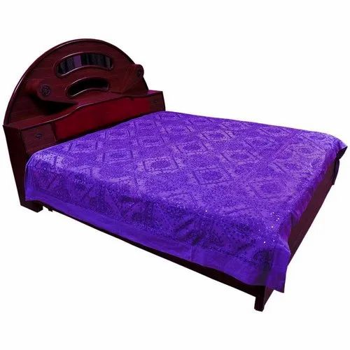 Thread & Mirror Work Double Bed Cover 511
