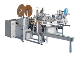 Ear Loop Mount Non Woven Fabrics Single Line Automatic-Surgical Face Mask Machine, Capacity: 40-50 Ppm, 8 Kw