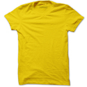 Mens Medium Yellow Plain T-shirt