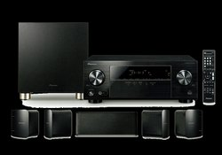 Black 125w Per Channel Pioneer Home Theater System Dealer (HTP-074), 100w