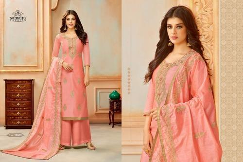64a124c7f0 Ladies Cotton 3/4th Sleeve Embroidered Pakistani Suit, Rs 1119 ...