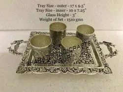 Silver Plated 4 Glass Set